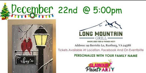 Long Mountain Grill Holiday Paint Party
