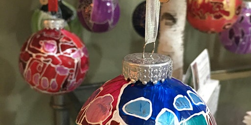 """Drop In Paint Your Own """"Stained Glass"""" Doodle Ornaments"""