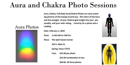Aura and Chakra Photo Sessions
