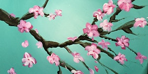 Paint & Sip Cherry Blossoms Paint Night