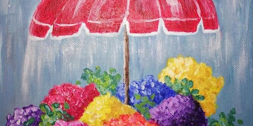 Flowers on a Rainy Day Paint Party