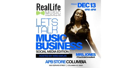 Real Life Music Presents: Lets Talk Music Business (Social Media Edition) tickets