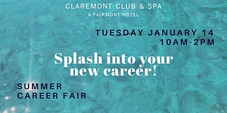 Claremont Club and Spa Summer Career Fair: Splash into your New Career! tickets