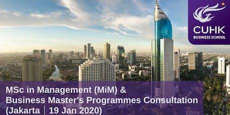 CUHK MiM & Business Master's Programmes Consultation in Jakarta tickets