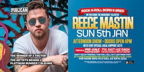 Reece Mastin LIVE January 5th at Publican, Mornington! tickets