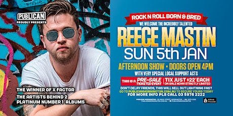 Reece Mastin LIVE January 5th at Publican, Mornington! tickets