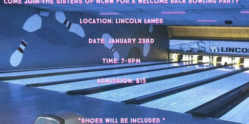 NCNW Welcome Back Bowling Party