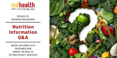 MD Health Information Session: Nutrition Q&A tickets