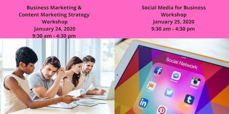 Business & Content Mrktg Workshop  1/24  & Social Media for Business 1/25 tickets