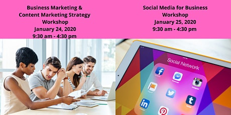 Business & Content Mrktg Workshop  1/24  & Social Media for Business 1/25 tickets