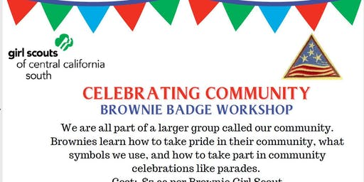 Celebrating Community - Brownie Badge - Hanford