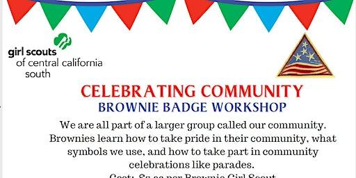Celebrating Community - Brownie Badge - Hanford