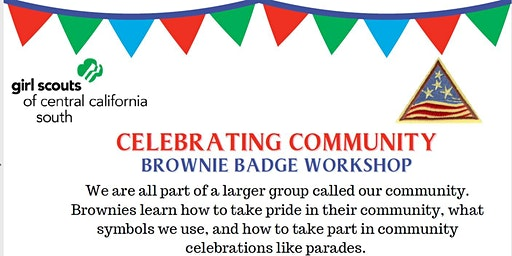 Celebrating Community - Brownie Badge - Madera
