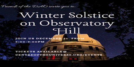 Winter Solstice at the Dominion Astrophysical Observatory tickets