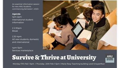 Survive & Thrive at University tickets