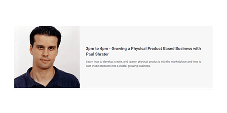 Growing a Physical Product Based Business with Paul Shrater tickets