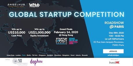 Global Startup Competition - Paris roadshow - AngelHub & WHub tickets