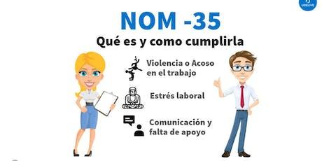 """Taller """"Norma 035"""" Qué es y cómo aplicarla? entradas"""