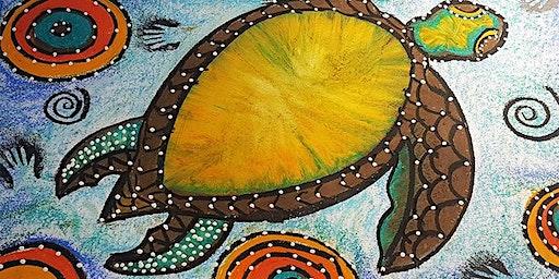 Indigenous art class with Arthur Conlon