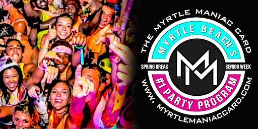 MyrtleManiac Card Spring Break 2020 Myrtle Beach SC