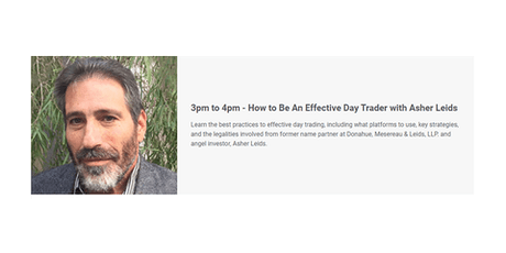 How to Be An Effective Day Trader with Asher Leids tickets