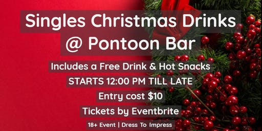 Single Christmas Drinks includes Free Drink & Hot Snacks Joint Groups
