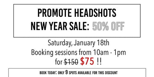 Promote Headshots - New Year Savings Event