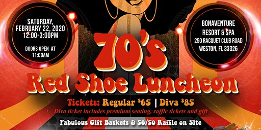 Flashback to the 70's Red Shoe Luncheon