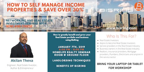 Networking Event & Seminar: How to Self Manage Income Properties & Save Over 30% tickets