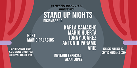 Stand Up Nights by Panteón Rock Hall boletos