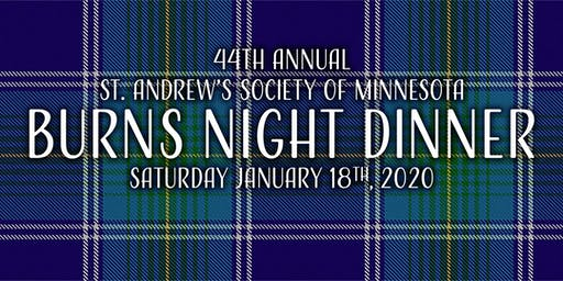 44th Annual Burns Night Dinner, presented by the St. Andrew's Society of MN
