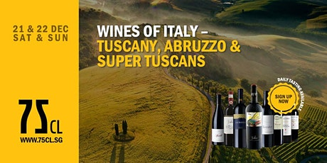 Wines of Italy – Tuscany, Abruzzo & Super Tuscans tickets