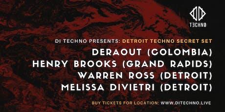 Secret Set in Detroit - Techno - DERAOUT tickets