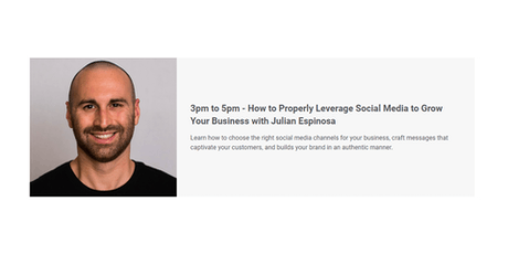 How to Properly Leverage Social Media to Grow Your Business with Julian E. tickets