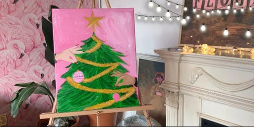 """""""Third Friday"""" Downtown Art Walk! Christmas Tree Paint PARTY"""
