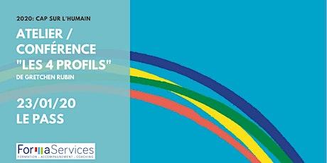 """2020 : Cap sur l'humain !  Conférence atelier """"Les 4 profils"""" billets"""