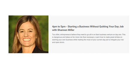 StartingaBusiness Without Quitting Your Day Job with Shannon Miller tickets