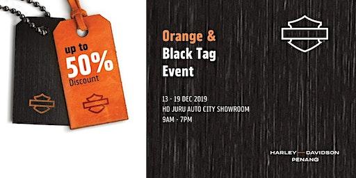 Harley Orange & Black Tag Event Bikers Gathering