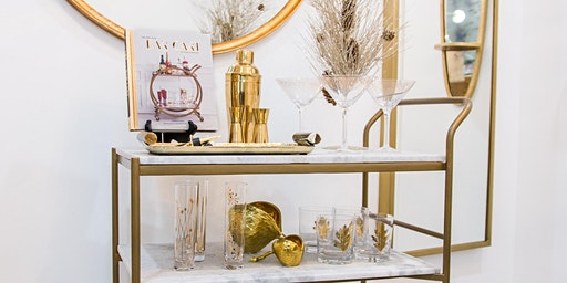 Bar Cart Styling and Mixology Holiday Event