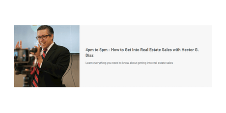 How to Get Into Real Estate Sales with Hector G. Diaz tickets
