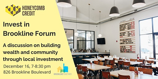Invest in Brookline Forum