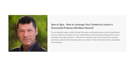 How to Leverage Your Content to Launch a Successful Podcast with Marc H. tickets