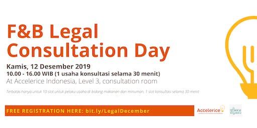 Accelerice Indonesia F&B Legal Consultation Day - December