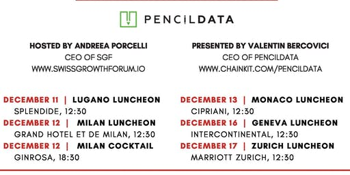 Swiss Growth Forum Luncheon with PencilDATA in Milan
