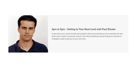 Getting to Your Next Level with Paul Shrater tickets