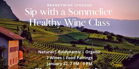 Sip with a Sommelier - Healthy Wine tickets