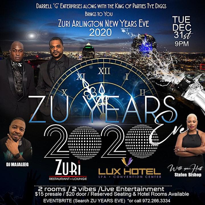 "ZU YEAR'S EVE - ""Zuri Arlington New Year's Eve 2020! image"