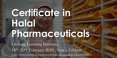 Certificate in Halal Pharmaceuticals tickets