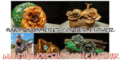 Hand-hammered Copper Flower with Colette Dumont 2.15.20