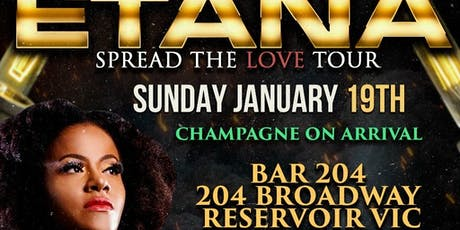 ETANA SPREAD THE LOVE TOUR - UP CLOSE AND PERSONAL, DINNER AND SHOW tickets